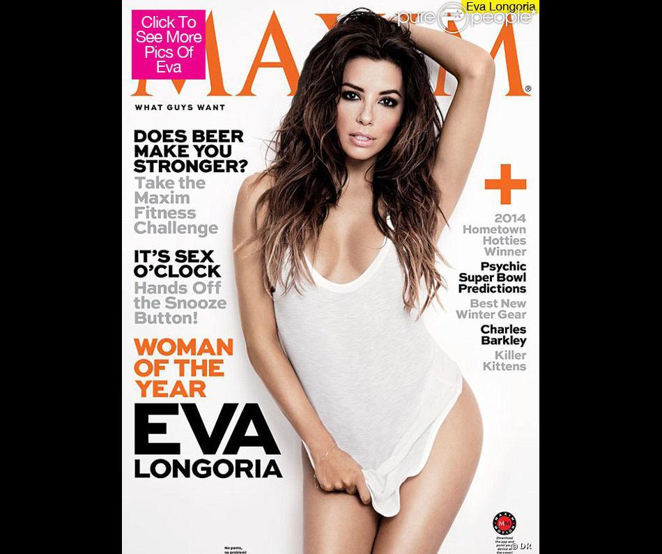Eva Longoria pose en couverture du magazine Maxim, USA, janvier/février 2014.