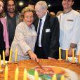 Bernadette Chirac et Christian Karembeu - lancement de la 25e opération Pièces jaunes à l'hôpital Necker-Enfants malades à Paris le 8 janvier 2013.