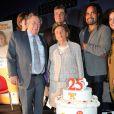 Le pédiatre Claude Griscelli, David Douillet et Christian Karembeu - lancement de la 25e opération Pièces jaunes à l'hôpital Necker-Enfants malades à Paris le 8 janvier 2013.