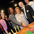 Christian Karembeu et Bernadette Chirac - lancement de la 25e opération Pièces jaunes à l'hôpital Necker-Enfants malades à Paris le 8 janvier 2013.