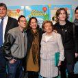 David Douillet, Billy, Anne Barrère, Amaury Vassili et Yoann Fréget - lancement de la 25e opération Pièces jaunes à l'hôpital Necker-Enfants malades à Paris le 8 janvier 2013.