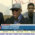 Dennis Rodman s'emporte sur CNN en duplex depuis la Corée du Nord mardi 7 janvier 2014.