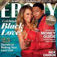Mariah Carey et Nick Cannon en couverture du magazine Ebony's pour le mois de février 2014.