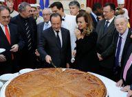 François Hollande et Valérie Trierweiler : Complices autour d'une galette géante