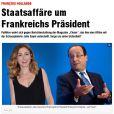 Article du Bild en Allemagne sur la supposée relation entre Julie Gayet et François Hollande