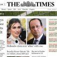 Article du Times en Angleterresur la supposée relation entre Julie Gayet et François Hollande