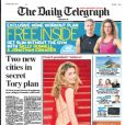 The Daily Telegraph (Angleterre) évoque la supposée relation entre Julie Gayet et François Hollande en une