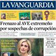 La une de La Vanguardia (Espagne) qui met en avant l'affaire François Hollande - Julie Gayet le 11 janvier 2014.