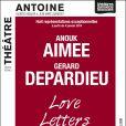 """Anouk Aimée et Gérard Depardieu dans """"Love Letters"""" au Théâtre Antoine à Paris. Prolongations jusqu'au 15 janvier 2013."""