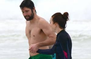 Julianne Moore : Radieuse en maillot de bain, elle se détend en famille