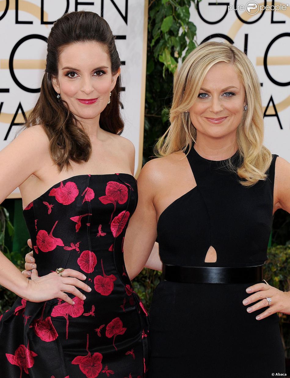 Tina Fey et Amy Poehler aux Golden Globe Awards à Los Angeles, le 12 janvier 2014.
