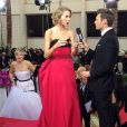 Ryan Seacrest immortalise sur son instagram le photobomb hilarant de Jennifer Lawrence.