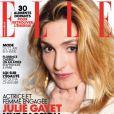 """""""Le magaizne Elle a fait sa couverture avec Julie Gayet, le 15 janvier 2014"""""""