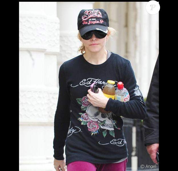 Madonna se rend à son cours de gym, malgré sa cheville blessée