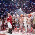 Image de la représentation du 21 janvier 2014 au 38e Festival International du Cirque de Monte-Carlo, sous le chapiteau Fontvieille, en présence de Stéphanie de Monaco accompagnée de sa fille Pauline Ducruet et du prince Albert avec la princesse Charlene. Une soirée marquée par la remise des prix du Festival, les Clowns d'or, d'argent et de bronze.