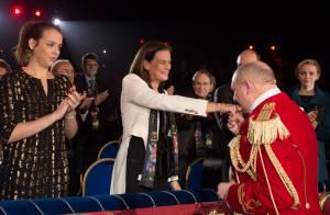 Stéphanie de Monaco, Pauline, Albert et Charlene réunis pour les Clowns d'or