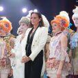 La princesse Stéphanie de Monaco lors de la remise des Clowns d'or, d'argent et de bronze le 21 janvier 2014 au 38e Festival International du Cirque de Monte-Carlo