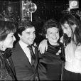 Régine, Thierry Le Luron, Jane Birkin et Nicole Kalfan