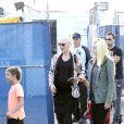 Gwen Stefani, enceinte, s'est rendue avec son mari Gavin Rossdale et leurs fils Kingston et Zuma à Santa Monica pour regarder le spectacle TOTEM du Cirque du Soleil. Le 19 janvier 2014.
