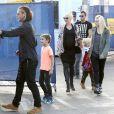 Gwen Stefani et sa famille grandissante à Santa Monica, le 19 janvier 2014.