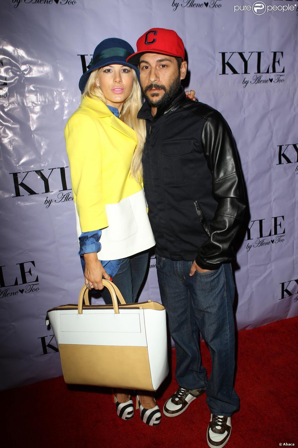 Shayne Lamas et son mari Nik Richie à Beverly Hills, le 20 août 2013.