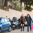 Carles Puyol et sa compagne Vanessa Lorenzo, enceinte,à l'anniversaire de Milan, le bébé de la chanteuse Shakira et de Gerard Piqué, à Barcelone le 23 janvier 2014