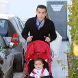 Pedro Rodriguez et son fils Bryan Rodriguezà l'anniversaire de Milan, le bébé de la chanteuse Shakira et de Gerard Piqué, à Barcelone le 23 janvier 2014