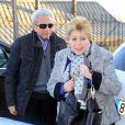 Nidia del Carmen Ripoll Torrado et William Mebarak Chadidà l'anniversaire de leur petit-fils Milan, le bébé de la chanteuse Shakira et de Gerard Piqué, à Barcelone le 23 janvier 2014
