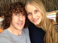Carles Puyol (FC Barcelone) et Vanesa Lorenzo parents d'une petite Manuela !