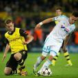 Florian Thauvin le 1er octobre 2013 lors du match de Ligue des Champions Dortmund - OM