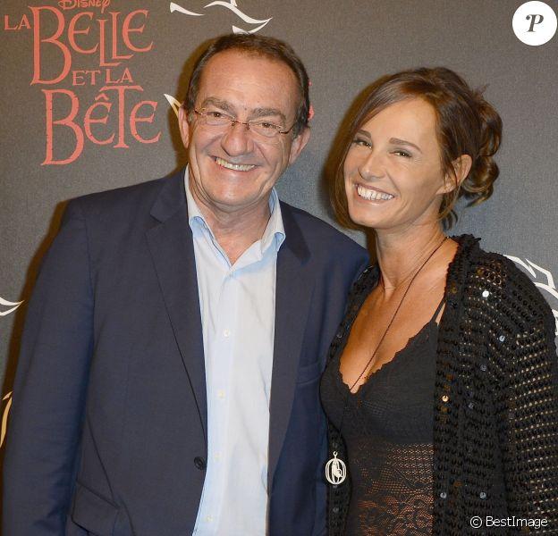 """Jean-Pierre Pernaut et sa femme Nathalie Marquay - Générale de la comédie musicale """"La Belle et la Bête"""" au Théâtre Mogador à Paris le 24 octobre 2013."""