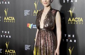 Cate Blanchett : Muse glamour et décolletée devant Sam Worthington amoureux