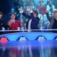 EXCLUSIF - Nouvelle Star 2014 - Sinclair, Maurane, Olivier Bas et André Manoukian au septième prime de la Nouvelle Star 2014 sous le chapiteau de L'arche de Saint-Germain. Le 30 janvier 2014.