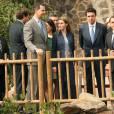 Le prince Felipe et la princesse Letizia d'Espagne inauguraient le 28 janvier 2014 la palmeraie de Ténérife, dans les  îles Canaries .