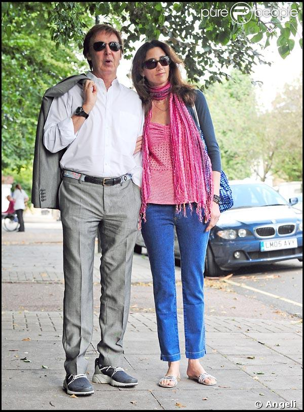 Paul McCartney et Nancy Shevell, balade romantique à Londres...