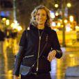 Exclusif - Alexandra Lamy arrive à Bruxelles en Belgique en provenance de Londres avec l'Eurostar de 14 heures, ce jeudi 16 janvier.