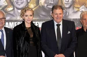 Charlene de Monaco et son père Michael : Soirée boxe au côté d'Adriana Karembeu