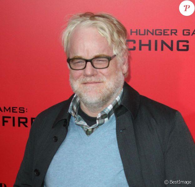"""Philip Seymour Hoffman lors de l'avant-première du film """"Hunger Games : Catching Fire"""" à New York, le 20 novembre 2013"""