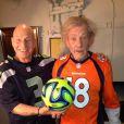 Patrick Stewart et Sir Ian McKellen lors du 48e Super Bowl entre les Broncos de Denver et les Seahawks de Seattle, le 2 février 2013 au Metlife Stadium de New York à East Rutherford, dans le New Jersey