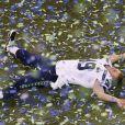 Clint Gresham lors du 48e Super Bowl entre les Broncos de Denver et les Seahawks de Seattle, le 2 février 2013 au Metlife Stadium de New York à East Rutherford, dans le New Jersey