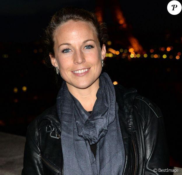 Exclusif - Aurélie Vaneck lors de la conférence de presse de la 24e édition du Rallye Aïcha des Gazelles à l'UNESCO à Paris, le 4 février 2014
