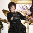 La belle Gina Lollobrigida (86 ans) fête ses 20 ans d'amitié avec le créateurHarald Glööcklerà Berlin en Allemagne le 4 février 2014