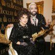 Gina Lollobrigida fête ses 20 ans d'amitié avec le créateurHarald Glööcklerà Berlin le 4 février 2014