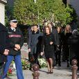 La famille Pastoraux obsèques de Michel Pastor en l'église Saint-Charles à Monaco le 6 février 2014.