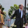 Le prince Serge de Yougoslavieaux obsèques de Michel Pastor en l'église Saint-Charles à Monaco le 6 février 2014.