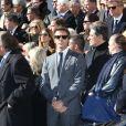 Prince Emmanuel Philibert de Savoieaux obsèques de Michel Pastor en l'église Saint-Charles à Monaco le 6 février 2014.