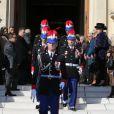 Obsèques de Michel Pastor en l'église Saint-Charles à Monaco le 6 février 2014.