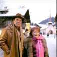Régine et Michel Pastor à Gstaad le 25 décembre 2004.