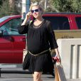 Exclusif - Elsa Pataky (enceinte) à Pasadena, le 9 février 2014.