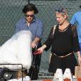 Exclusif - Elsa Pataky (enceinte) lors d'une sortie courses à Pasadena, le 9 février 2014.